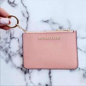 👜💕Michael Kors Card Holder Pale Pink